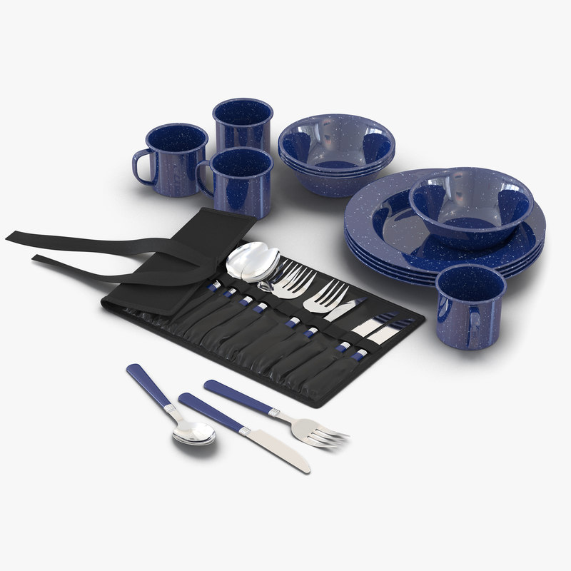 Camping Dishes and Utensils 3d models set 00.jpg