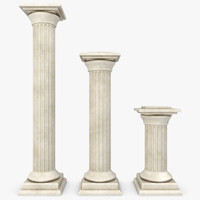 3d model column 02 3 sizes