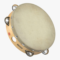 3d orchestral tambourine