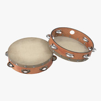 orchestral tambourine generic 3d max