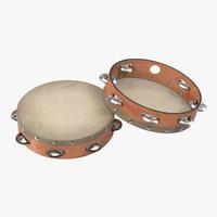 orchestral tambourine generic 3d max