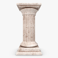 3d model column 02 brown