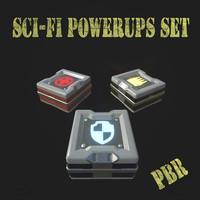set pbr games 3d model