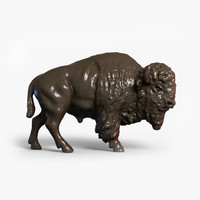 3d scan bison model