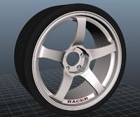 3d model advan alloy wheel