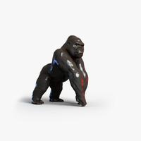 3d model gorilla primate