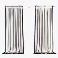Curtain with cornice