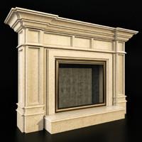 obj classic fireplace