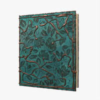 3d model copper leaves book