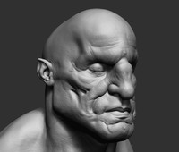 giant bust ztl 3d model