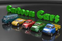 3d cartoon cars model