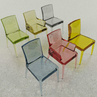 3d kartell chairs collections