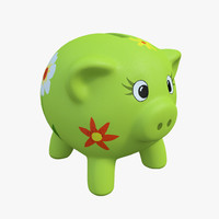 obj piggy bank