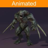 3d character reptil model