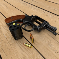 3d detective revolver model