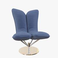 3d armchair angel