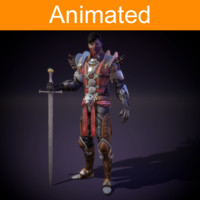 character warrior 3d model