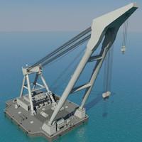Floating crane