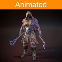character barbarian 3d fbx