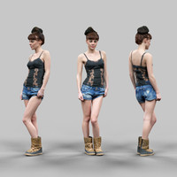3d girl sexy jeans short