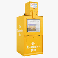 newspaper box 3d max