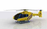 3d heli ec-135 model