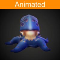 character octopus 3d model
