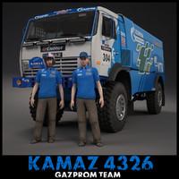 kamaz dakar rally 3d model