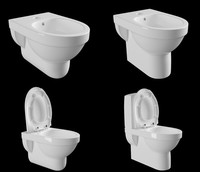 3d model laufen toilet bidet