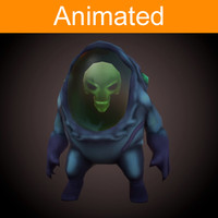 3d model of character alien