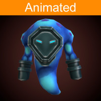 character mechanical demon animations 3d fbx