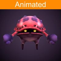 3d model character crab