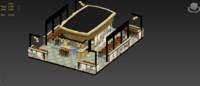 3d model of diner interior