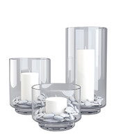 3d model glass candle holder set