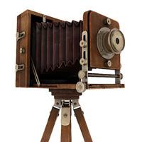 retro camera 3d obj