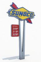 SUNOCO Gas Station Totem