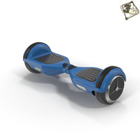 scooter hoverboard 3d model