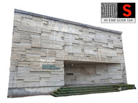 3d concrete facade 16k