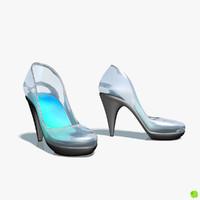 3d model shoe glass
