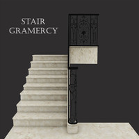 gramercy stairs 3d max