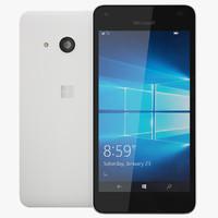 realistic microsoft lumia 550 3d model