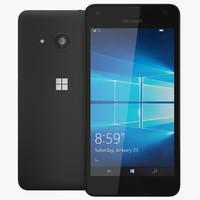 3d realistic microsoft lumia 550 model