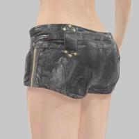 3d leather gold short model