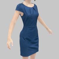dress blue 3d model