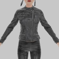 3d model of leather jacket