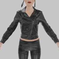 leather jacket fbx