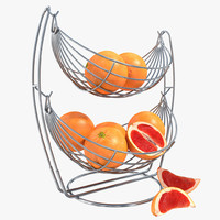 vase grapefruit 3d model