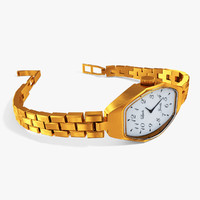 gold watch 3d model