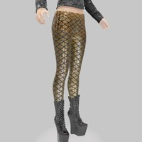 3d legging gold model