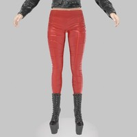 3d x legging red